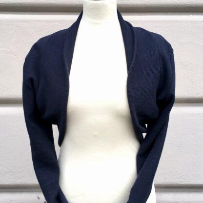 BOLERO, Cordoptik, GOTS-Baumwolle, Marineblau, Tanzbekleidung,, Berliner Design